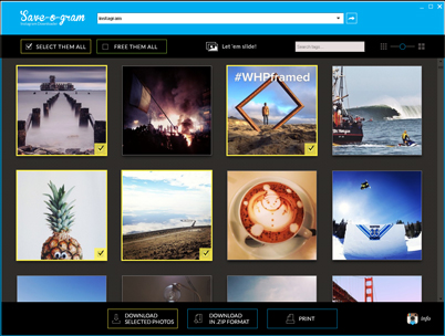 Click to view Save-o-gram Instagram Downloader screenshots